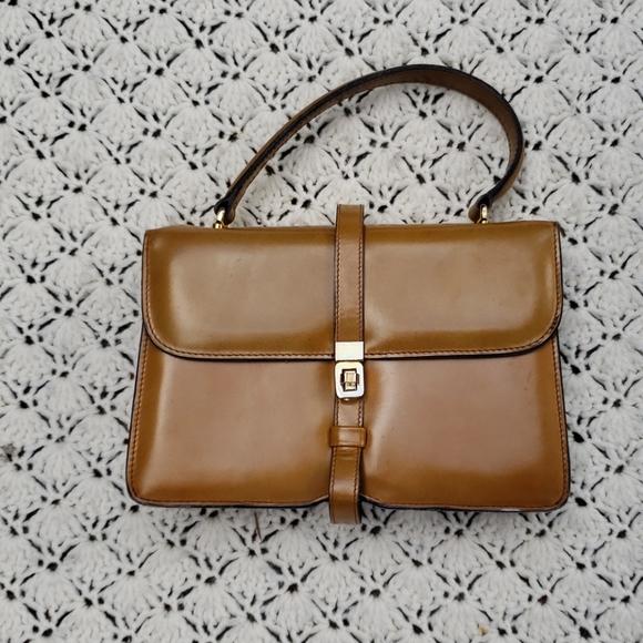Vintage Handbags - Vintage Ronora Italy Leather Mini Purse Clutch Bag